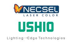 Necsel & Ushio logos 230x150